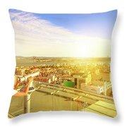Bridge April 25 And Cristo Rei Throw Pillow