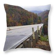Bridge At Butler Throw Pillow