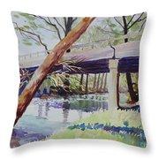 Bridge At Camp Verde Throw Pillow