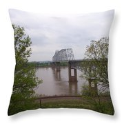 Bridge At Chester, Il Throw Pillow