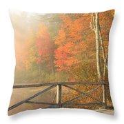 Bridge At Chocorua Lake Throw Pillow