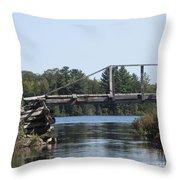Bridge At Chub Throw Pillow