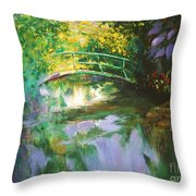 Bridge At Giverny Throw Pillow