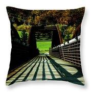Bridge At Killington Throw Pillow