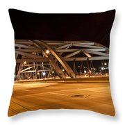 Bridge At Night Throw Pillow