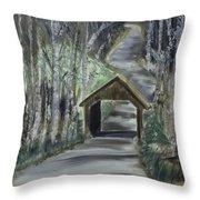 Covered Bridge Sleeping Bear Dunes  Throw Pillow