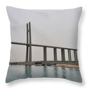 Bridge At Suez Throw Pillow
