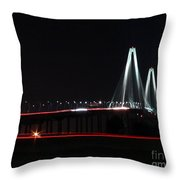 Bridge Blur Throw Pillow