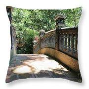 Bridge Crossing Tam Coc Vietnam Throw Pillow