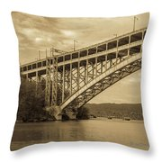 Bridge From The Train Throw Pillow
