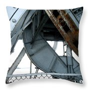 Bridge Gears Throw Pillow