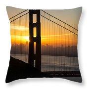 Golden Gate Sunrise Throw Pillow