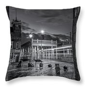 Bridge Hotel Throw Pillow