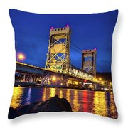 Bridge Houghton/hancock Lift Bridge -2669 Throw Pillow