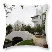 Bridge In Alys Beach Throw Pillow