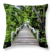 Bridge In Kosrae Throw Pillow