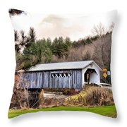 Bridge In Montgomery Throw Pillow
