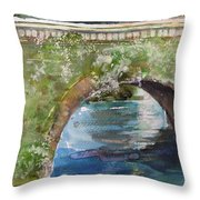 Bridge In Spain Throw Pillow