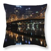 Bridge In The Heart Of Pittsburgh Throw Pillow