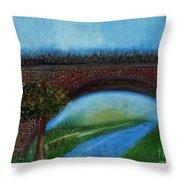 Bridge March Throw Pillow
