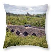 Caragh Bridge Near Killorglin Throw Pillow