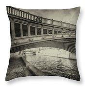 Bridge Of L'archeveche Throw Pillow