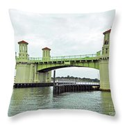Bridge Of Lions From The Water Throw Pillow