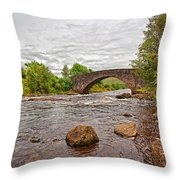Bridge Of Orchy Argyll Bute Throw Pillow