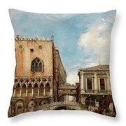 Bridge Of Sighs, Venice Throw Pillow