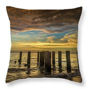 Bridge Of The Past Throw Pillow