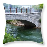 Bridge On The Niagara River Throw Pillow
