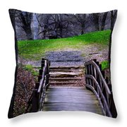Bridge On The Trail Throw Pillow