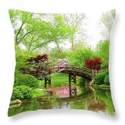 Bridge Over Calm Waters Throw Pillow