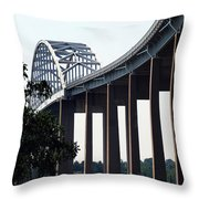 Bridge Over Delaware Chesapeake Canal Throw Pillow
