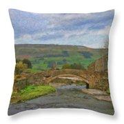 Bridge Over Duerley Beck - P4a16020 Throw Pillow