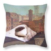 Bridge Over Florence Throw Pillow