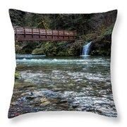 Bridge Over Hackleman Creek Throw Pillow