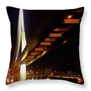 Bridge Over Hong Kong Harbor Throw Pillow