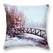 Snowy Span Throw Pillow