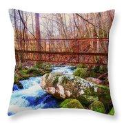 Bridge Over Mill Creek Throw Pillow
