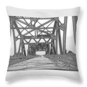 Bridge Over Mississippi Throw Pillow