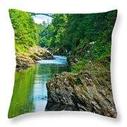 Bridge Over Quechee Gorge-vermont  Throw Pillow