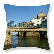 Bridge Over Staithes Beck Throw Pillow