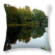 Bridge Over Still Waters Throw Pillow
