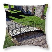 Bridge Over Stone Creek Throw Pillow