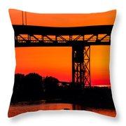 Bridge Over Sunset Throw Pillow