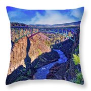 Bridge Over The Crooked River Gorge Throw Pillow