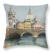 Bridge Over The Lake Throw Pillow