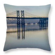 Bridge Over The Mississippi Throw Pillow