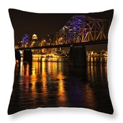 Bridge Over The Ohio Throw Pillow